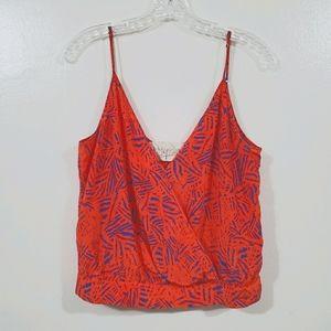 Rory Beca Croptop Orange Palm Print Size Small